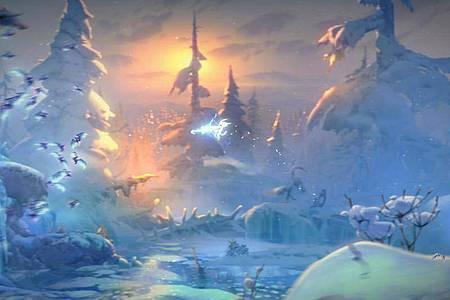 Waldgeist Ori streift durch den Zauberwald von Nibel und sucht sein Schicksal. Foto: Microsoft/dpa-tmn