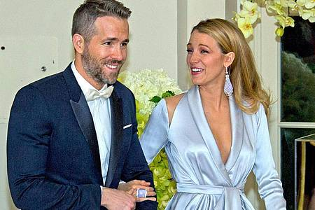 Ryan Reynolds und Blake Lively spenden eine Million Dollar. Foto: Ron Sachs/Pool/ISP/CNP POOL/dpa