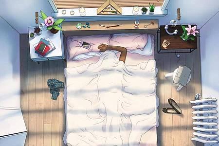 Ein Blick in ein gemütliches Schlafzimmer aus der Vogelperspektive: So sieht das Hauptmenü der App «#SelfCare» aus. Foto: Tru Luv Media/dpa-tmn