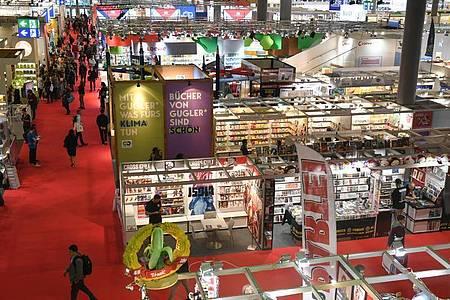 Im letzten Jahr sah es bei der Frankfurter Buchmesse noch so aus. Foto: Jens Kalaene/dpa-Zentralbild/dpa