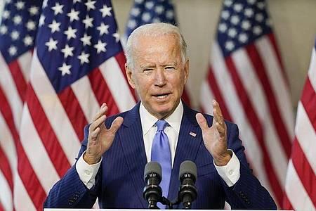 US-Präsidentschaftskandidat Joe Biden ist für keine schnelle Ginsburg-Nachfolge am Obersten Gericht. Foto: Carolyn Kaster/AP/dpa