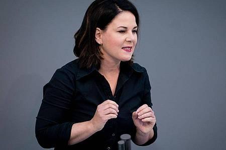 Grünen-Chefin Annalena Baerbock fordert eine Aufarbeitung des Rechtsextremismus in der Polizei. Foto: Kay Nietfeld/dpa