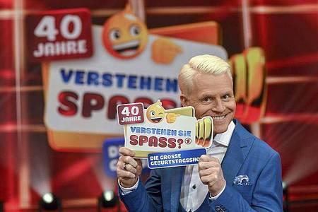 """Guido Cantz präsentierte die Jubiläumsausgabe von «Verstehen Sie Spaß?"""". Foto: SWR/Wolfgang Breiteneicher/SWR - Das Erste/obs"""