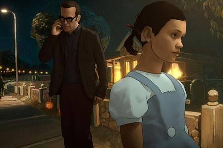 """Alma und ihr Vater in einer Szene der Serie """"Undone"""". Foto: Amazon Prime/dpa"""