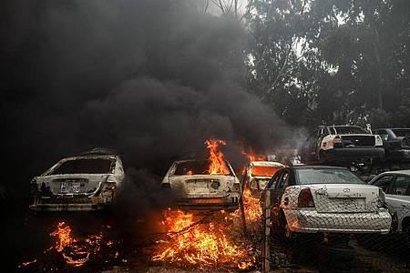 In Libyen war nach dem Sturz und der Tötung des langjährigen Machthabers Al-Gaddafi 2011 ein Bürgerkrieg ausgebrochen, an dem zahlreiche Milizen beteiligt sind. Foto: Amru Salahuddien/XinHua/dpa
