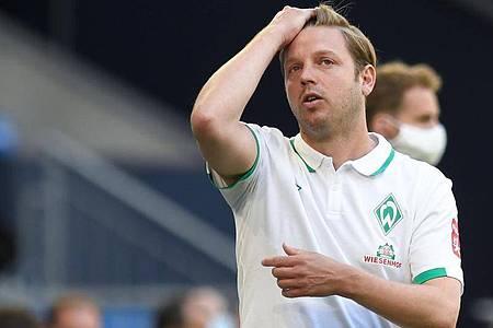 Werder Bremen cheftrainer, Florian Kohfeldt. Foto: Bernd Thissen/dpa-Pool/dpa