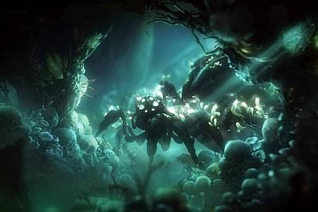 Das Spiel zeichnet sich durch wundervoll gezeichnete, animierte und teils auch ziemlich gruselige Hintergründe aus. Foto: Microsoft/dpa-tmn
