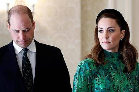 Prinz William (l) und Herzogin Kate im März 2020 in Dublin. Foto: Phil Noble/PA Wire/dpa