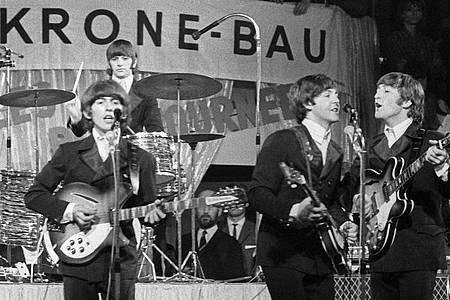 Die Größten:Die Beatles 1966 im Circus Krone-Bau. Foto: picture alliance / dpa
