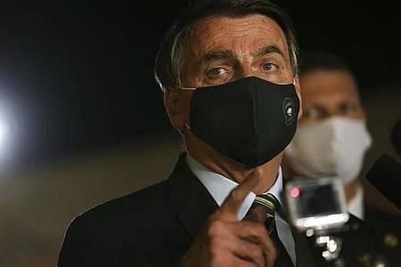 «Brauchen keine Leute von außerhalb, die uns Tipps bei der Gesundheit hier geben»: Brasiliens Präsident Jair Bolsonaro. Foto: Marcello Casal Jr/Agencia Brazil/dpa