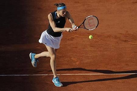 Andrea Petkovic schied in Paris in der ersten Runde aus. Foto: Michel Euler/AP/dpa