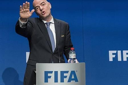 Hat ein Strafverfahren im Nacken: FIFA-Präsident Gianni Infantino. Foto: Ennio Leanza/KEYSTONE/dpa