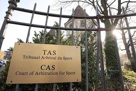 Außenansicht vom Internationalen Sportgerichtshof (CAS). Foto: Dominic Favre/KEYSTONE/dpa/Archivbild