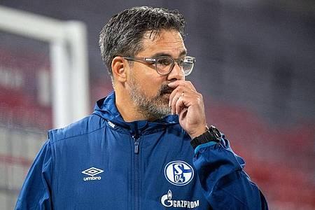 Beim FC Schalke gibt es einen neuen Corona-Fall. Laut Trainer David Wagner steht das Spiel gegen Werder aber nicht auf der Kippe. Foto: Matthias Balk/dpa