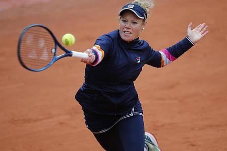 Laura Siegemund hat in Paris das Viertelfinale erreicht. Foto: Christophe Ena/AP/dpa
