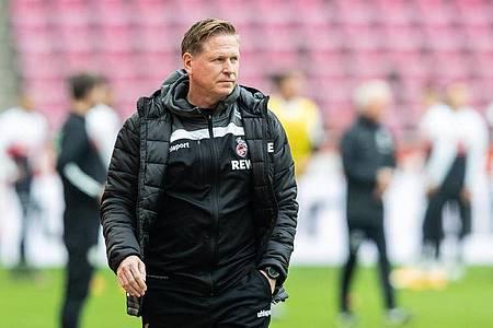 Ist mit dem 1. FC Köln beim VfB Stuttgart unter Druck: Trainer Markus Gisdol. Foto: Marcel Kusch/dpa
