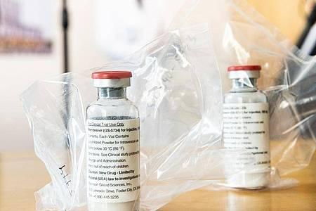 Das Medikament Remdesivir soll in Europa zur Behandlung von Covid-19-Patienten eingesetzt werden. Foto: Ulrich Perrey/dpa-POOL/dpa