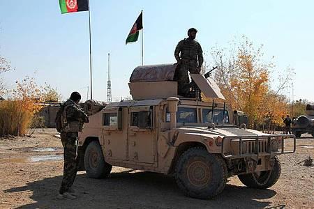 Afghanische Sicherheitskräfte. Foto: XinHua/dpa/Archivbild
