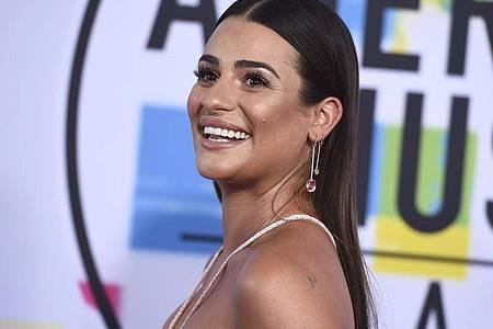 Lea Michele bei der Verleihung der American Music Awards 2017. Foto: Jordan Strauss/Invision/AP/dpa