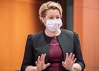 Gilt in der SPD als Favoritin für die Müller-Nachfolge: Bundesfamilienministerin Franziska Giffey. Foto: Michael Kappeler/dpa-pool/dpa