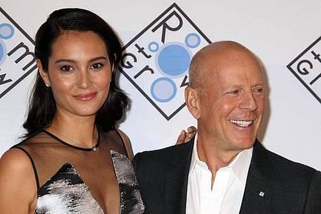 Wieder vereint: Der US-Schauspieler Bruce Willis und seine Frau Emma Heming. Foto: Nancy Kaszerman/ZUMA Wire/dpa