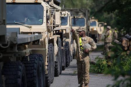 US-Militärfahrzeuge während einer Übung im Jahr 2018. Foto: Friso Gentsch/dpa