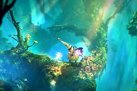 Waldgeist Ori ist zu Beginn des Spiels schwach, lernt aber schnell neue Fähigkeiten hinzu. Foto: Microsoft/dpa-tmn