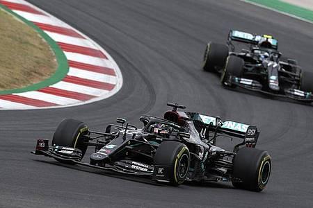 Siegte auch in Portugal: Lewis Hamilton. Foto: Jose Sena Goulao/EPA Pool/AP/dpa