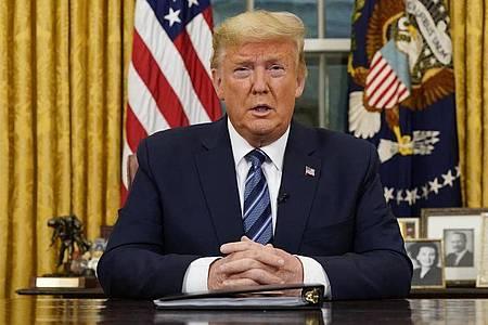 US-Präsident Donald Trump weitet die Reiseeinschränkungen auf Europa aus. Foto: Doug Mills/Pool The New York Times/AP/dpa