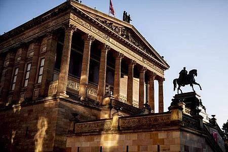 Die Alte Nationalgalerie auf der Berliner Museumsinsel. Foto: Christoph Soeder/dpa
