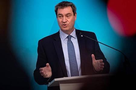 Bayerns Ministerpräsident Markus Söder betont erneut: «Mein Platz ist in Bayern.». Foto: Sven Hoppe/dpa