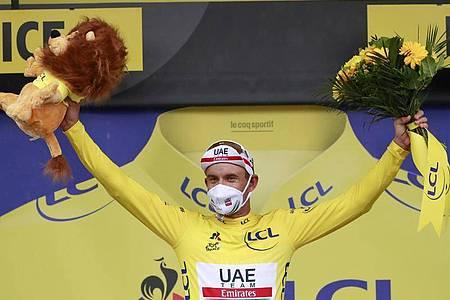 Die Führung in der Gesamtwertung dürfte für Alexander Kristoff nur ein kleines Vergnügen bleiben. Foto: Christophe Petit-Tesson/Pool EPA/AP/dpa