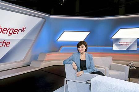 Sandra Maischberger, Gastgeberin und Moderatorin der Talk-Show «Maischberger - Die Woche». Foto: Markus Tedeskino/WDR/ARD/dpa