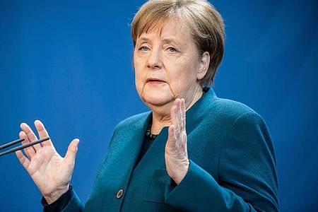 Bundeskanzlerin Angela Merkel (CDU), spricht über weitere Maßnahmen gegen die Ausbreitung des Coronavirus. Foto: Michael Kappeler/dpa-POOL/dpa
