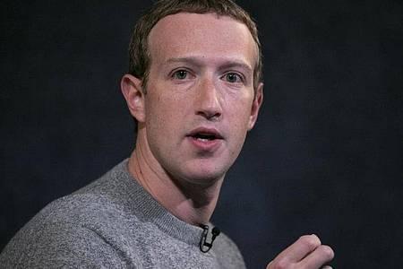 Mark Zuckerberg Ende 2019 bei einemAuftritt in New York. Foto: Mark Lennihan/AP/dpa