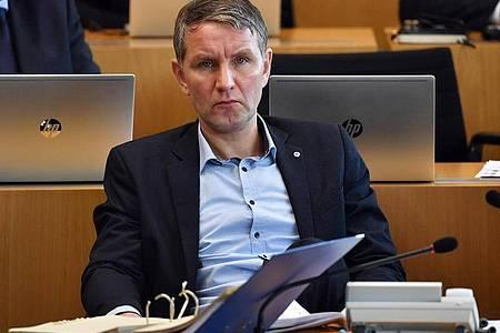 Björn Höcke Anfang März im Plenarsaal des Thüringer Landtages. Foto: Martin Schutt/dpa-Zentralbild/dpa