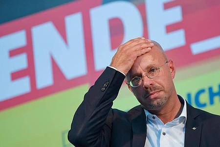 Andreas Kalbitz, Landesvorsitzender der AfD in Brandenburg, ist nach einem Beschluss des Bundesvorstands nicht mehr Mitglied der Partei. Foto: Patrick Pleul/dpa-Zentralbild/dpa
