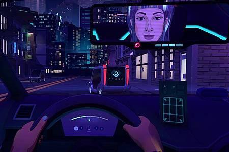 Lieber die Meinunge sagen - und eine schlechte Bewertung riskieren? «Neo Cab» macht Spieler zum Mietwagenchauffeur. Foto: Change Agency/dpa-tmn