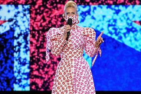 Barbara Schöneberger moderierte das deutsche ESC-Finale. Foto: Uwe Ernst/NDR/dpa