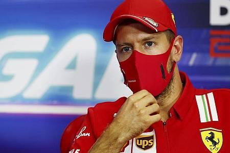 Will mit der Scuderia Ferrari nochmal Gas geben: Sebastian Vettel. Foto: Joe Portlock/Getty Pool/dpa