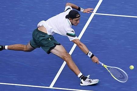 Jan-Lennard Struff hat bei den US Open die dritte Runde erreicht. Foto: Frank Franklin II/AP/dpa