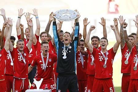 Der FC Bayern München möchte erneut die Meisterschaft gewinnen. Foto: Kai Pfaffenbach/Reuters-Pool/dpa