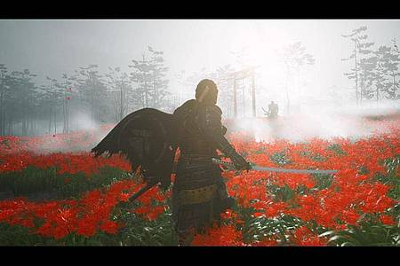 Epische Duelle: Solche dramatischen Zweikämpfe sind in «Ghost of Tsushima» fast an der Tagesordnung. Foto: Sucker Punch Productions/Sony Computer Entertainment/dpa-tmn