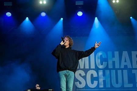 Michael Schulte in Hannover:«Ich habe sogar ein bisschen Gänsehaut bekommen.». Foto: Peter Steffen/dpa