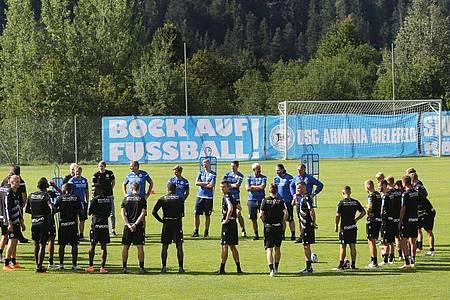 Arminia Bielefeld bereitet sich im Trainingslager in Österreich auf die kommende Saison vor. Foto: Karl-Josef Hildenbrand/dpa