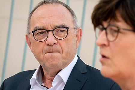 Norbert Walter-Borjans Anfang Juni während einer Pressekonferenz imKanzleramt. Foto: Kay Nietfeld/dpa