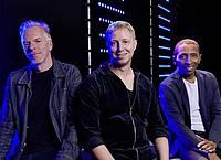 Martin Tingvall (l-r), Jürgen Spiegel und Omar Rodriguez Calvo bitten zum «Dance«. Foto: Steven Haberland