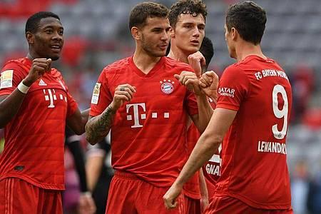 Der FC Bayern München liegt auf Meisterschaftskurs. Foto: Christof Stache/AFP/Pool/dpa