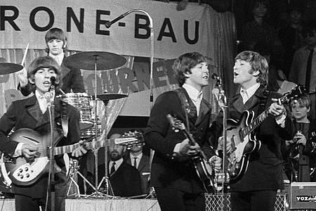 Die Beatles 1966 im Circus Krone-Bau. Foto: picture alliance / dpa
