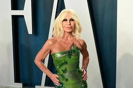 Donatella Versace bei der diesjährigen Oscar-Party von Vanity Fair in Los Angeles. Foto: Ian West/PA Wire/dpa